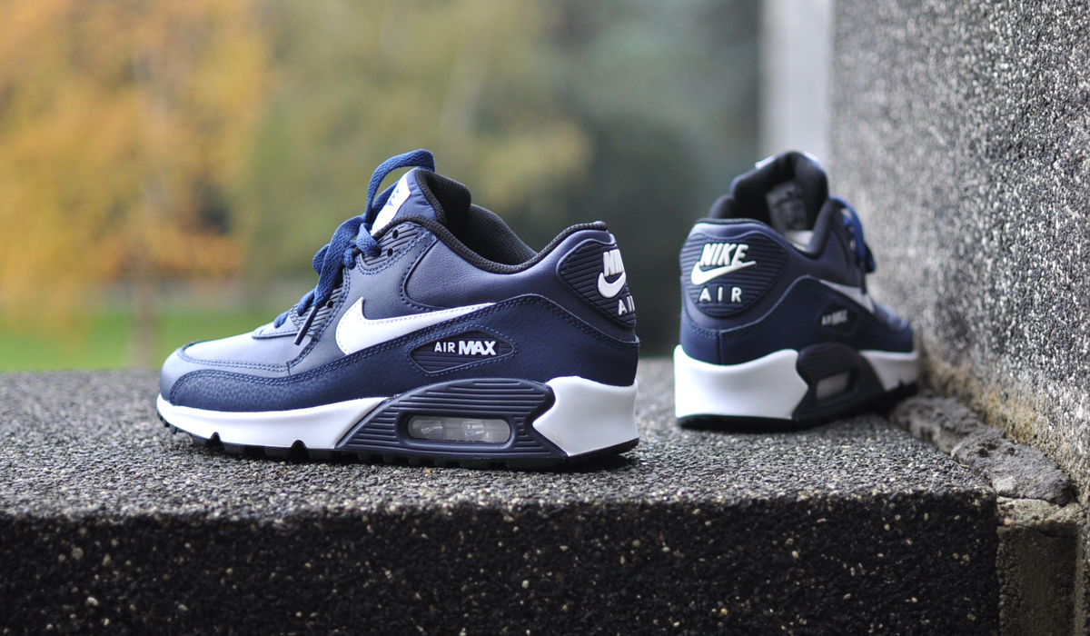 nike air max 90 wit leer dames