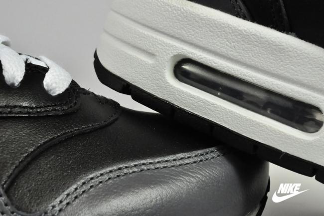 Nike Air Max 1 Leather Black White/ Dark-Grey