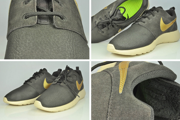Nike Rosherun Suede Velvet Brown/ Metallic Gold