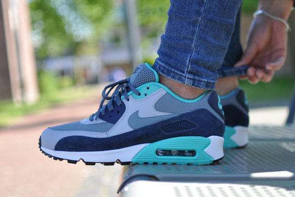 Nike Air Max 90 Essential Blue Graphite/Blue Graphite-Wolf Grey