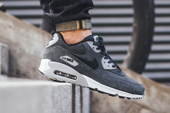 Nike Air Max 90 Leather Anthracite Wolf Grey