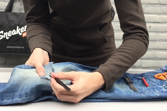Ripped Jeans maken