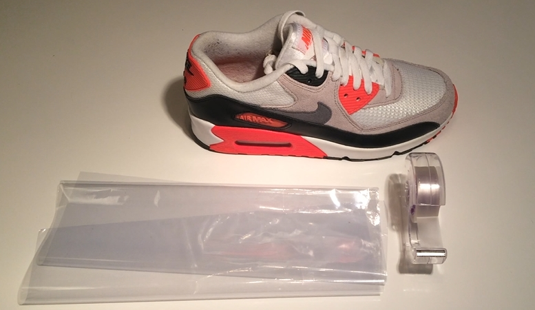shrink wrap sneakers