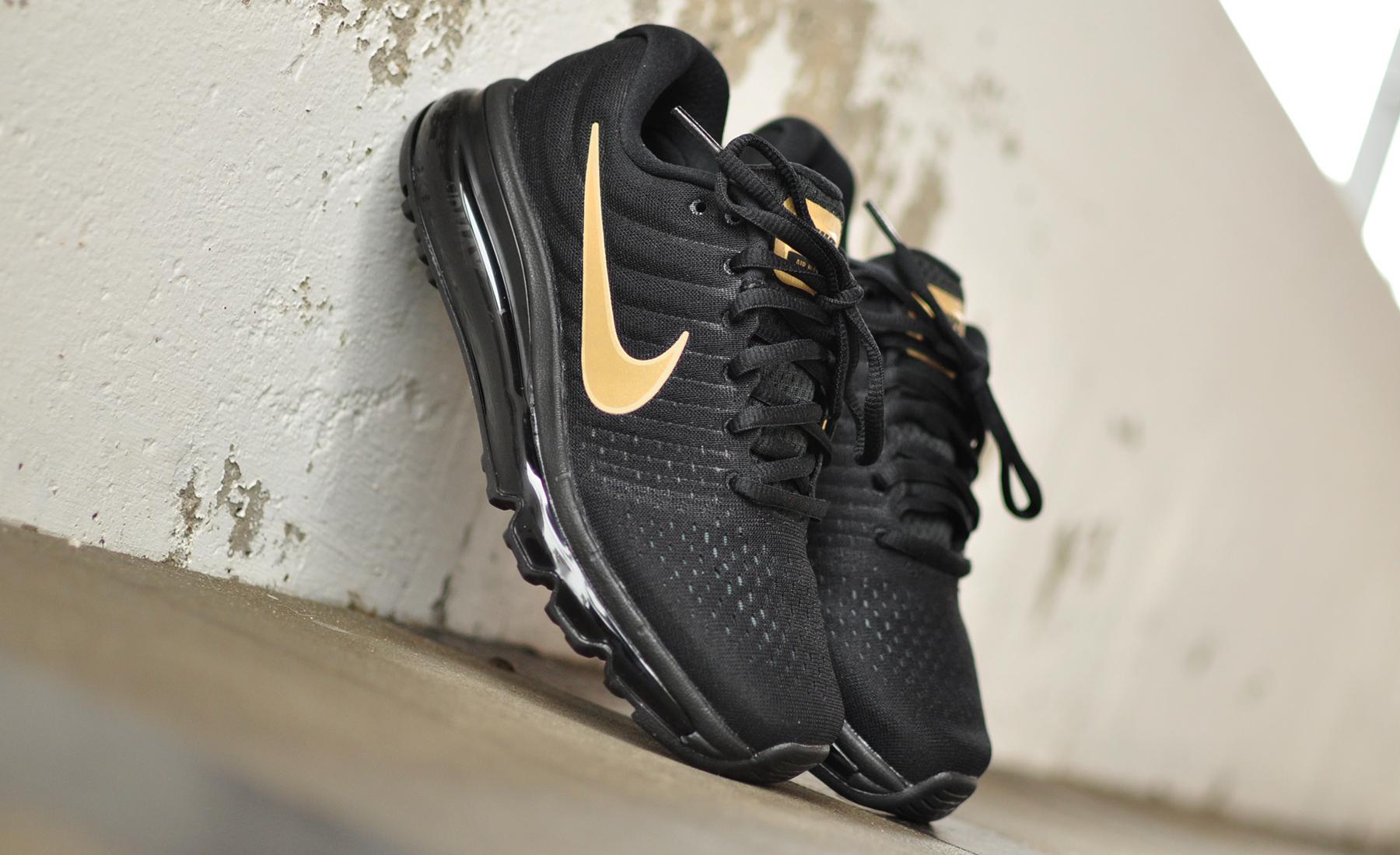 air max 2017 zwart goud
