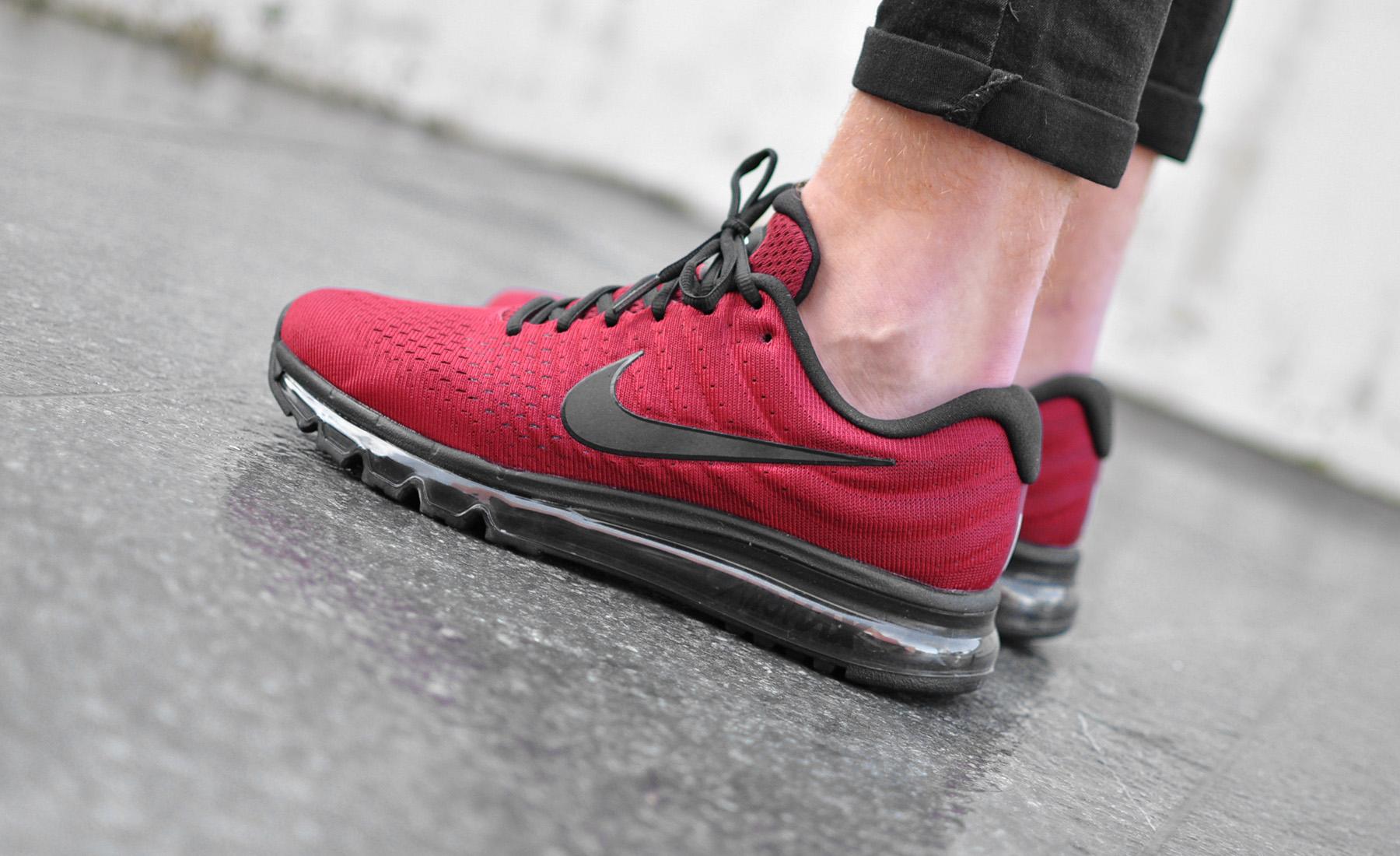 nike air max 2017 rood met zwart