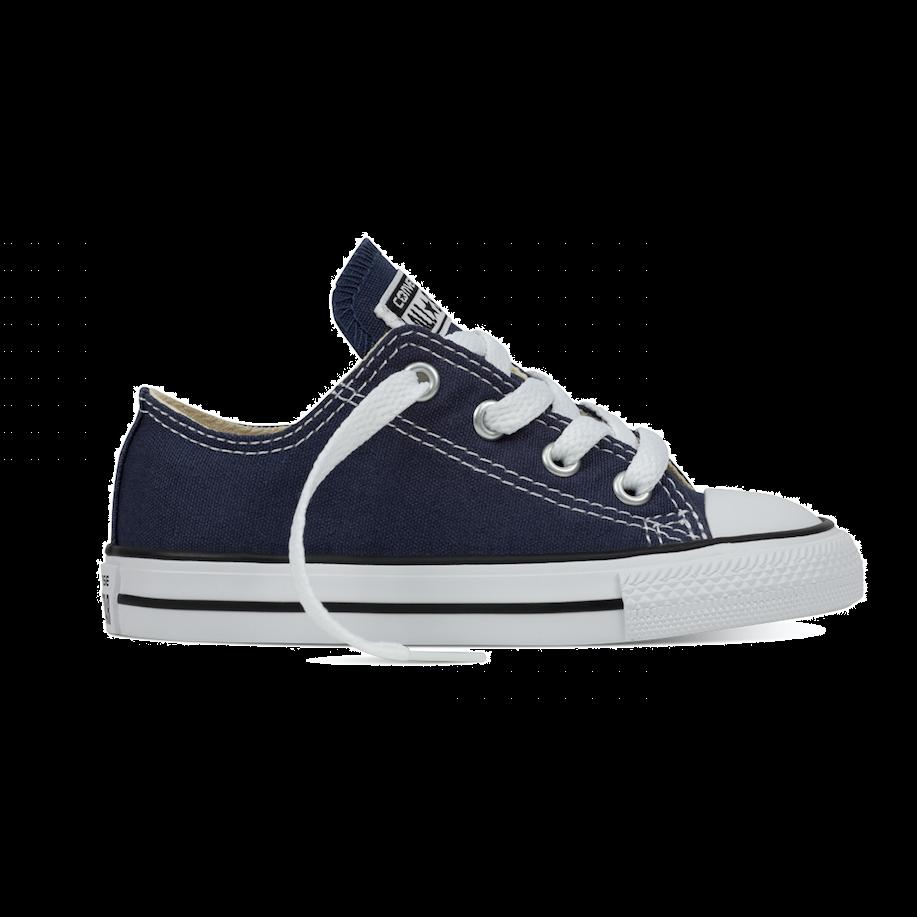Converse All Stars Laag Kids 7J237 Navy Blauw