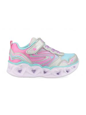 Skechers Heart Lights 20294N/SMLT Zilver