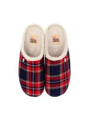 Hot Potatoes Pantoffels Magadan 60755 Rood / Blauw