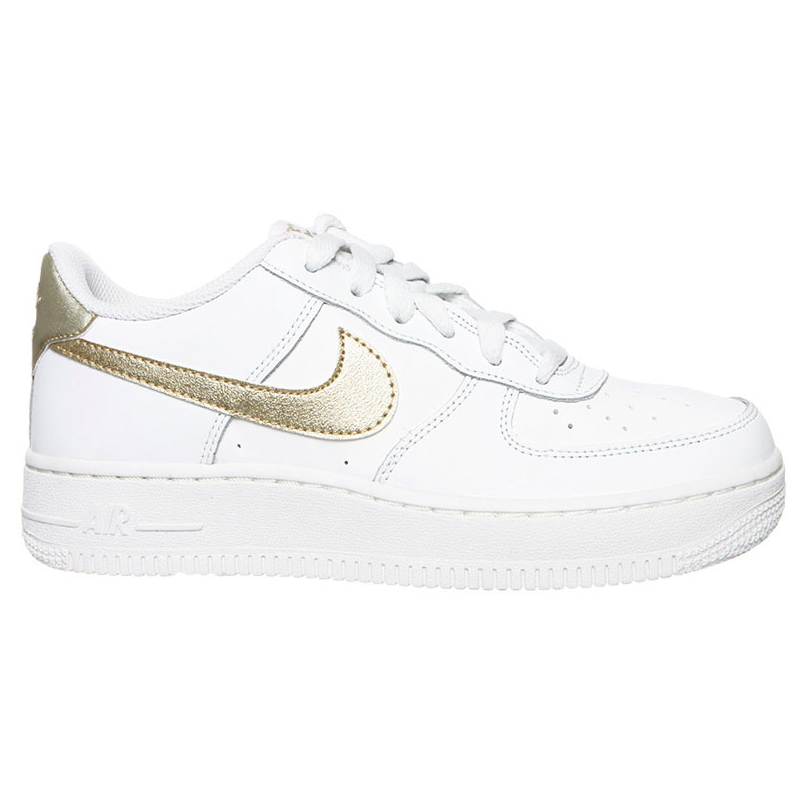 Nike Air Force 1 GS 314219-127 Wit / Goud