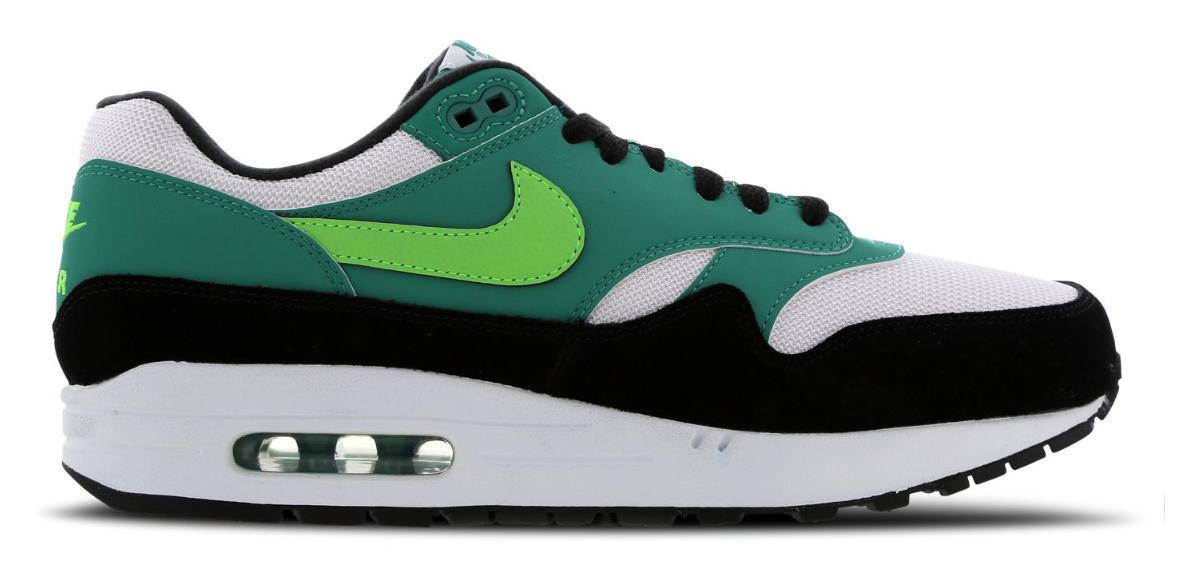 Nike Air Max 1 damessneaker groen en wit