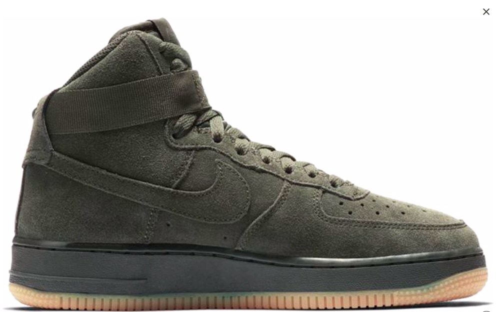 dcbafec0342 Nike Air Force 1 Hoog 807617-300 Groen