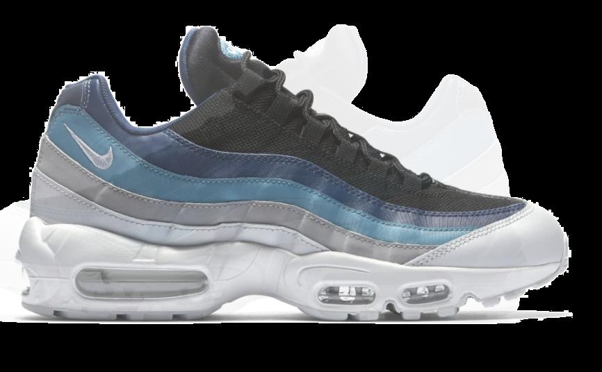 nike air max 95 blauw grijs