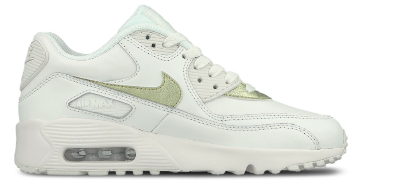 purchase cheap 0a0b1 ad36a Nike Air Max 90 Leather GS 833376-103 Wit