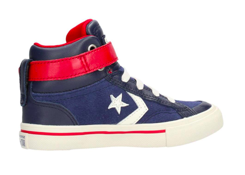 228854f2858 Converse All Stars Kids Pro Blaze Strep Leathers Hoog 662758C Blauw / Rood