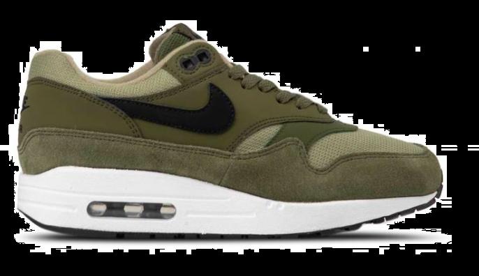 nike air max 1 groen zwart