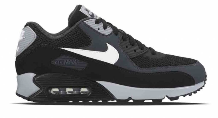 Nike Air Max 90 herensneaker zwart en grijs